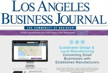 """Keeping it Local"" LA Business Journal Manufacturing Column on SyncFab / ""Keeping it Local"" is the title of the feature section on SyncFab authored by LABJ columnist, Carol Lawrence. In addition to a screenshot of the SyncFab Product Development Design & Manufacturing Marketplace – the column also quotes a statistic SyncFab pulled from a recent study of the manufacturing industry in Los Angeles whereby 57% of 12,000 Manufacturers in Los Angeles report surplus or underutilized capacity."
