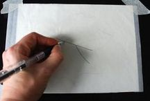 coloured pencil technique