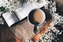 Books, flowers and coffee / Inspirações! inspiration!
