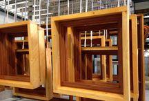 Transparante houten kozijnen (mahonie) / Houten kozijnen (mahonie)