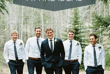 Groom & His Guys / The bride and her gals may be the main focus of the day, but it is important for the guys to look just as good!