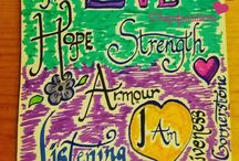 HOPE FOUND IN M.E. • Pen Lettering / Pen lettering is something I really enjoy, when I can set mind to it. Here's some I have done recently.