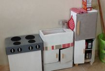 cardboard kitchen