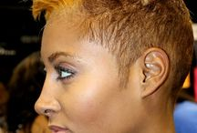 Short Black Hairstyles / Short black haircuts for women of color. The shorter hairstyles are creative and bold. Pixie cuts and short curly styles.