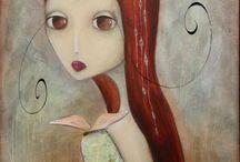 femme cheveu rouge