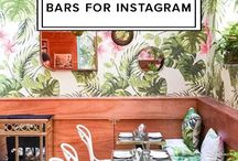 Stylish Bar Ideas / From bar carts to the most instagrammable bars in the world, check out the best stylish bar ideas.