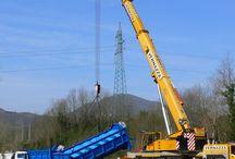 Impianto idroelettrico nel Comune di Licciana Nardi (MS) / Foto di cantiere