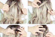 Hair / Hairstyle tutorials, hair growth inspiration, pretty hair colors etc...