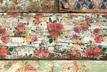 Shabby chic floorboards