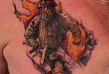 Feuerwehr-Tattoos