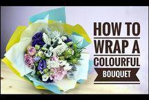 wrap a bouquet