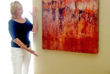 Paintings Installed on site / Pics of sold paintings hung in people's homes and offices http://www.shirleywilliamsart.com
