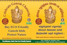 GIRI presents ECO friendly GANESHA idols / GIRI presents ECO friendly GANESHA idols