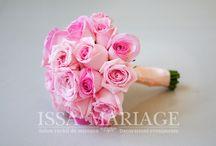 Buchet mireasa din trandafiri roz / Buchet mireasa din trandafiri roz