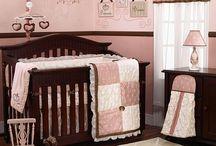 PINK & BROWN BABY ROOM ETC