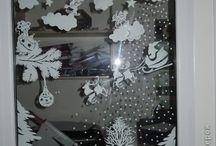 téli ablak dekoráció