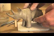 Ceramics/clay animals