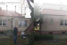 Przebudowa domu / przebudowa domu nadbudowa poddasze pozowlenie na budowe warunki zabudowy slupca