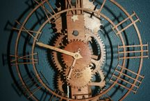 Wood clock's