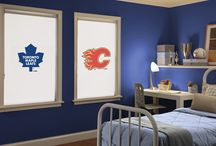 NHL Roller Shades / Customizable NHL roller shades are perfect for showing team spirit in style! All 30 NHL teams are available for placement on a variety of fabric choices!  / by Budget Blinds - Official
