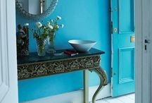 Blue Color on Interior and Exterior Walls