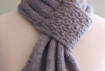 Knitted cowl, scarves & shawls
