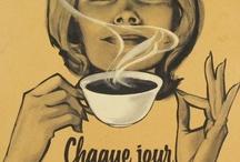Affiches autour du café
