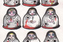 The Russian Doll  Politics / Cartoons