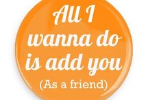 Social Network Humor Buttons / Funny Buttons - Custom Buttons - Promotional Badges - Social Network Humor Slang Pins - Wacky Buttons