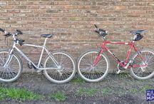 Nuestras Bicis :) / Fotos de nuestras bicicletas, los caballitos de hierro que nos llevarán a los 4 hasta Alaska y más allá :)
