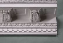 Cornice / Plaster cornice designs, period and contemporary. Classic styles, handmade in the traditional manner out of real gypsum. Decorative and ornate cornice on sale from plasterceilingroses. #cornice, #coving, #plastercoving