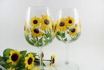 Painted Glassware / by Karen Elwood