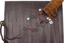 Backgammon board / Old and new, made of wood, leather or plastic;  Check out this huge collection of backgammon boards