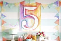 Party - Watercolor Crafts and Party Ideas / Watercolor crafts, techniques and ideas.    For more ideas http://blog.thecelebrationshoppe.com