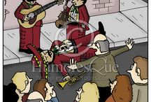 Music Cartoons / Cartoons about music and musicians, music history, the music business, bands, and concerts