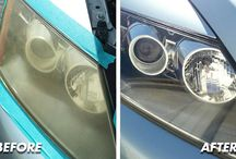 Headlight Restoration / Before and afters of some of the amazing work we do on headlights. Get rid of that foggy look and let your car light shine through!