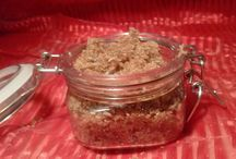 Facial Scrubs / Scrubs created with the more sensitive skin on your face in mind. etsy.com/shop/scarletmooncreates