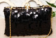 harshi black sequence clutch