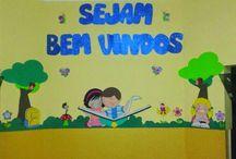 mural volta às aulas