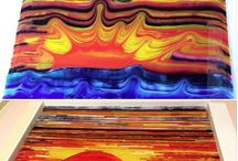 Fused glass combing