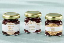 Personalized Strawberry Jam Wedding Favors / Personalized strawberry jam favors with customized Labels