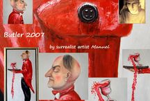 Butler 2007 painting by artist Manuel