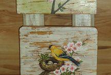 ptáčci dřevo