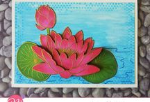 Mudra - Lotus Blooms!! / Gorgeous Lotus blooms stamps for fabulous card creations.