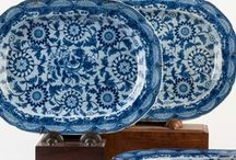 BLUE and WHITE / Blue and White as a term is often associated with plates that appear with this colour transfer or painting on....