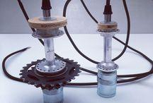 Lamp recycle fietsen / Diverse lampen gemaakt van fietsonderdelen. Strak, verrassend en one of a kind! #lamp #design #fiets