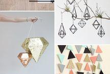 Geometric Wedding Decor
