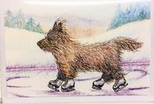 Cairn Lovers Christmas Shop 2017 / A spangly, shiny, joyous collection of items to spread Christmas cheer to you, your Cairn(s), children, grandchildren, and everyone you know who loves this wonderful breed. Choose from Dog Jumpers and Bandanas, Christmas Nail Art, Unique Christmas Cards, Stained Glass Cairns and much much more.