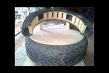 TIRE-FURNITURE / În interior sau afara anvelopele pot fi folosite pentru tot felul de lucruri.