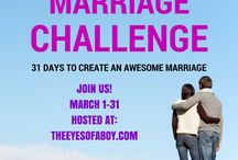 March Marriage Challenge / 31 Days to Create and Awesome Marriage with inspiration from nearly 31 bloggers! Topics include love, romance, stories and more!  / by Melissa at The Eyes of a Boy blog